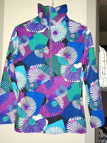Kolorowa bluzka z długim zamkiem