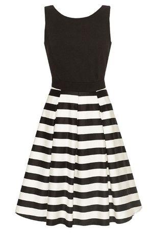 Sukienka Orsay rozmiar 36 38 rockabilly pinup paski rozkloszowana