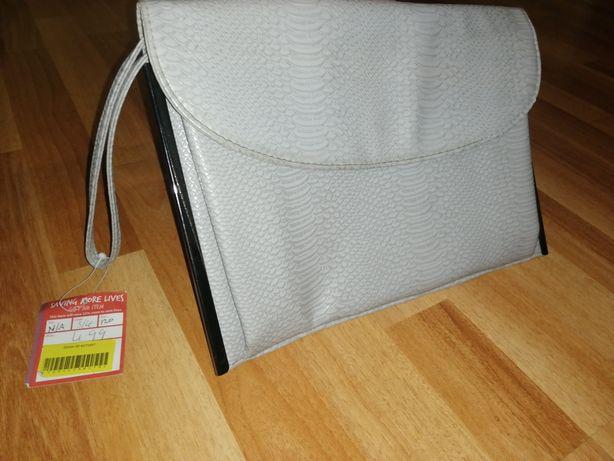Клатч, сумочка конверт серая