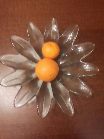 Patera szklana na owoce