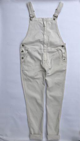 Джинсовый комбинезон, бежевый комбинезон, джинсы Mango