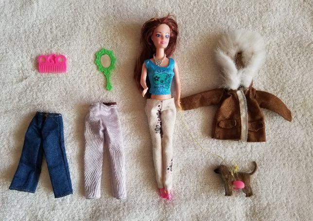 КУКЛА Ба́рби с собачкой (серия Barbie) одежда, аксессуары / рост 30 см