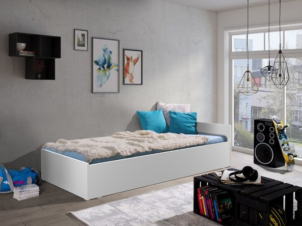 Łóżko Młodzieżowe 90x200 z Materacem OSKAR Producent 4 kolory