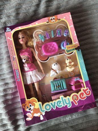 Lalka Barbie ze zwierzątkami