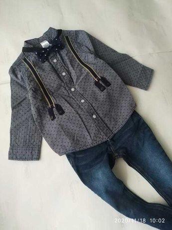 Нарядный костюм комплект джинсы и рубашка Next