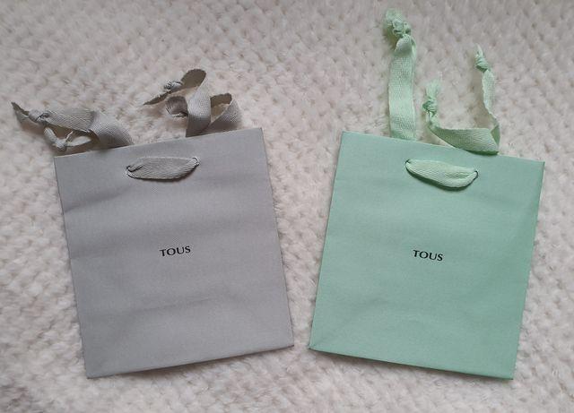 Torebki papierowe prezentowe/ozdobne oryginalne TOUS. Nowe.