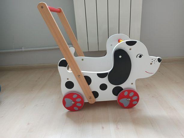 Wózek-chodzik drewniany