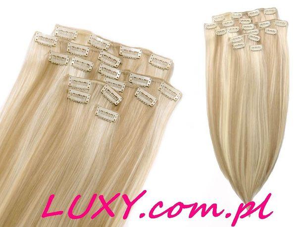 Doczepiane włosy Clip In, jak naturalne, 53cm 8 Taśm. Luxy com pl