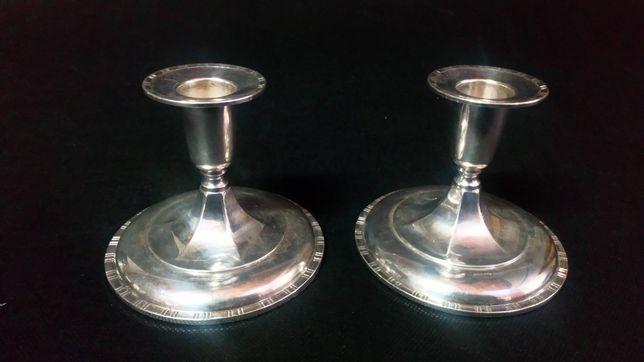 Stare srebrne świeczniki antyk srebro lokata prezent