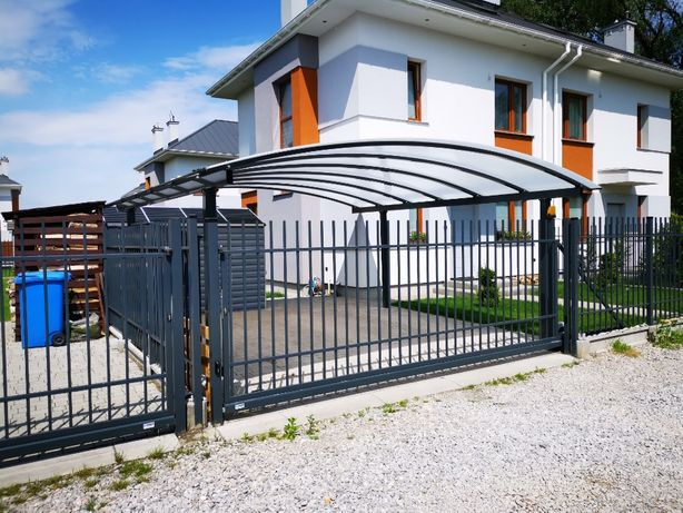 Carport Nowoczesna wiata garażowa na 2- auta w wym. 6x5m ALUMINIUM