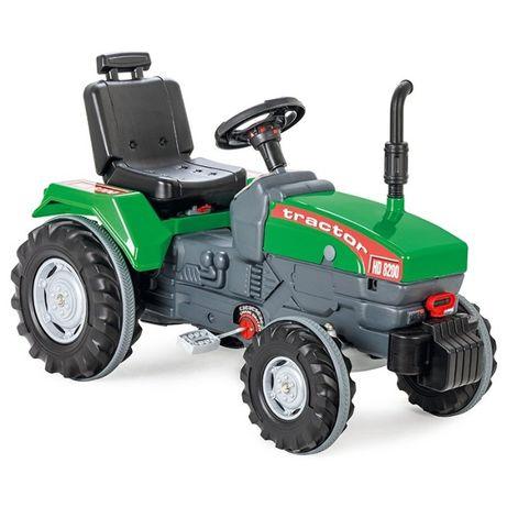 Duży Ogromny Zielony Traktor Na Pedały z Klaksonem dla dzieci