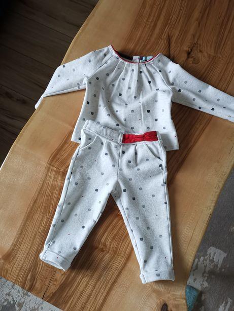Komplet bluza i spodenki dla dziewczynki firma Okaidi
