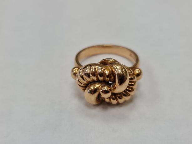 Wiekowy! Wyjątkowy złoty pierścionek/ 750/ Lite złoto/ 7.69 g/ R15