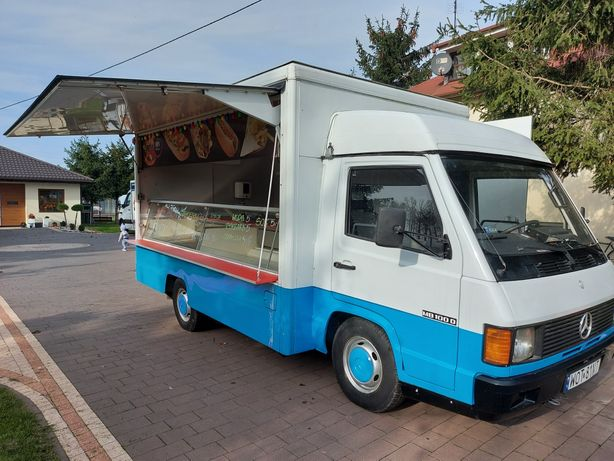 Mercedes mb100 autosklep mieso ryby food truck