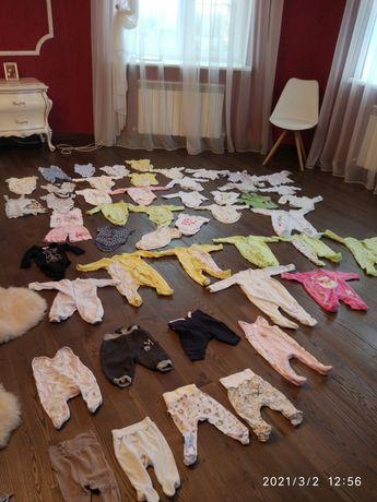 Вещи 70 единиц+11 шапок+5 мелочей(56-74) для девочки и мальчика