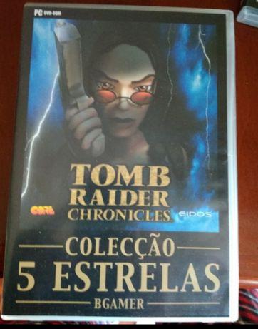 Vendo jogo tomb raider Chronicles