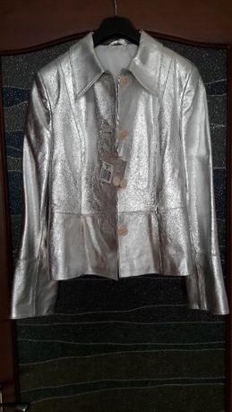 Куртка жіноча нова з натуральної шкіри Італія розмір М,європ.40,укр 46