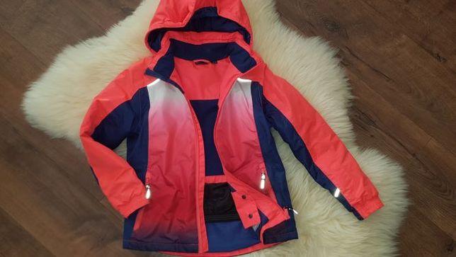 Świetna kurtka narciarska CRIVIT ombre 134-140