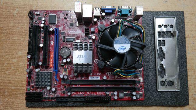 Материнская плата MSI G31TM-P21+PentiumE6500+4gb 2ядра/2 потока LGA775