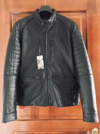 Мужская кожаная куртка Mango кожанка оригинал