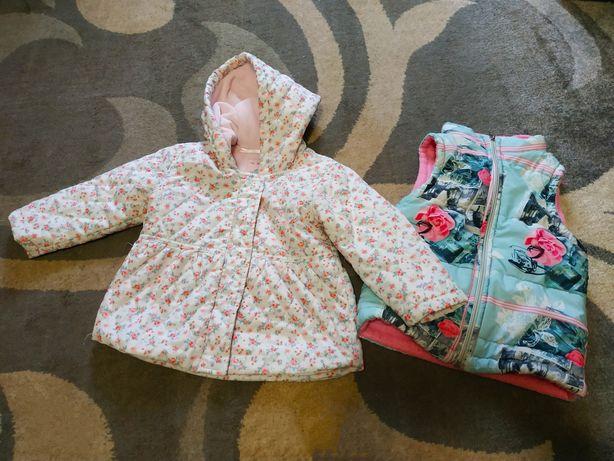 Набор куртка и жилетка на девочку 12-18 мес , на год два 12 месяцев 18