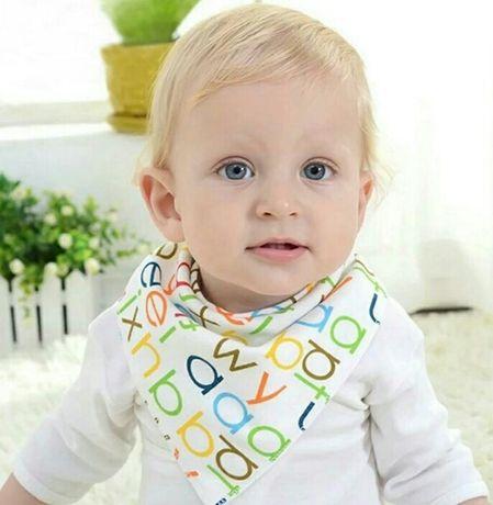 Яркие слюнявчики для малышей набор 2 шт