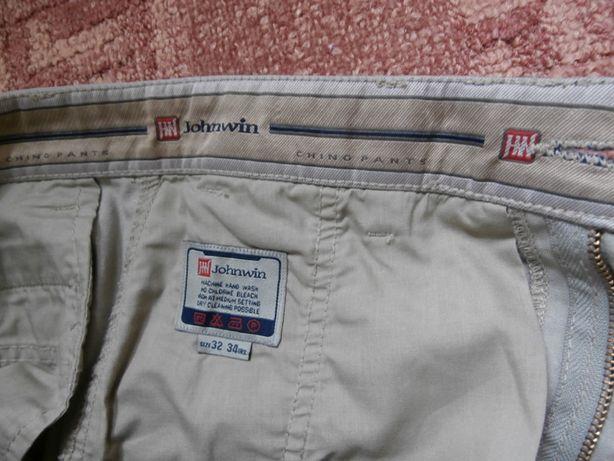 фирменные коттоновые брюки JOHNWIN