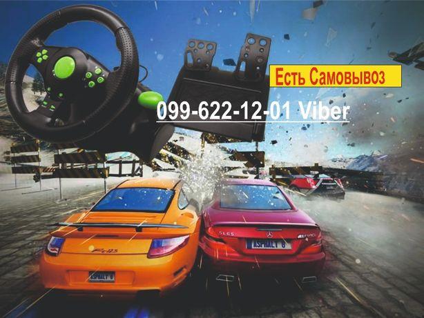Игровой руль с педалями 3в1 USB для PS3/PS2/PC Xbox 360 Vibration