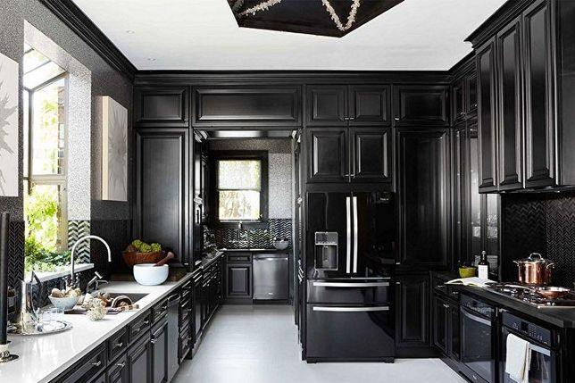 Ремонт квартиры, дома . Модный тренд - Total Black , стиль .