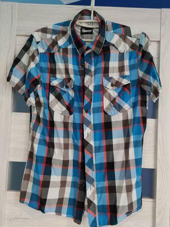 Koszula męska krata L niebieska house