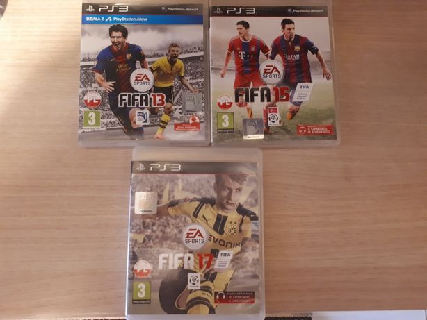 Zestaw gier Fifa 13' 15' PS3