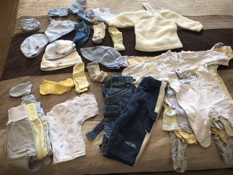 Пакет детских вещей  , next( человечки, шапочки, штанишки ) 0-6 месяце