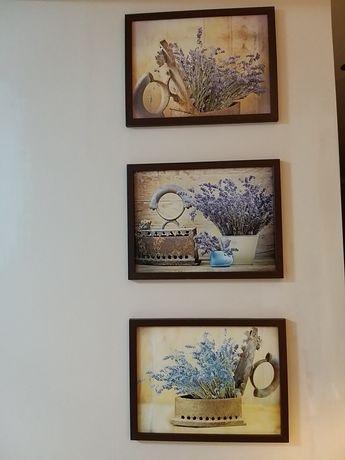 Obrazy zestaw trzech