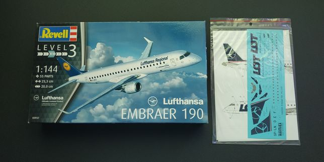 Embraer 190 Revell 1/144+kalki PLL LOT New Livery