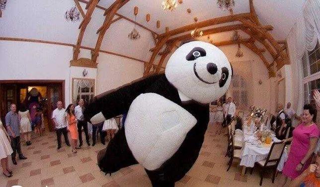 Dmuchaniec, dmuchany plac zabaw, zamek,  maskotka chodząca Panda