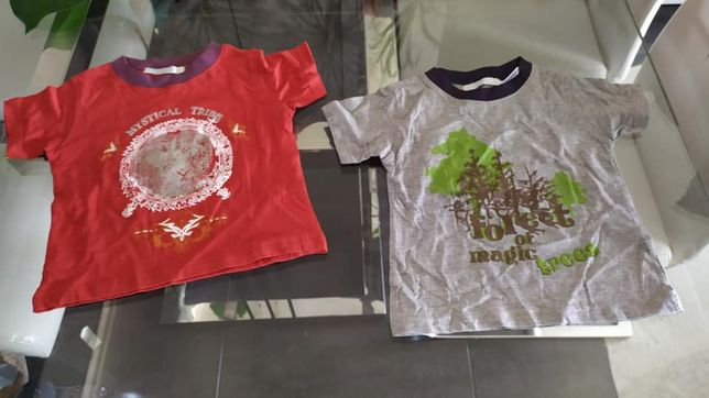 NOVO lote de 2 t-shirts para 2 anos