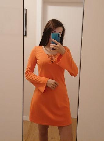 Pomarańczowa sukienka SINSAY rozmiar S
