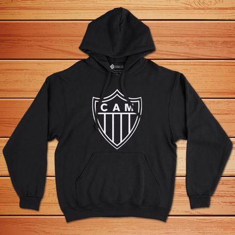 Sweatshirt com capuz do Atlético Mineiro ou sua equipa a escolha