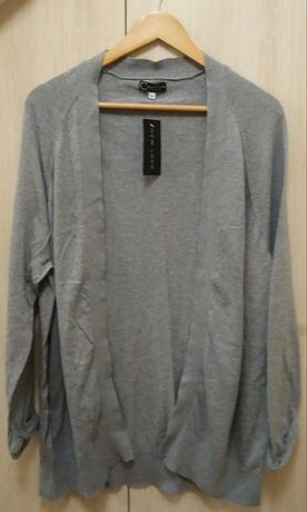 Nowy sweter kardigan sweterek damski szary jasny