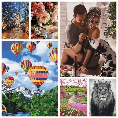 Картины по номерам Украина Франция Лондон воздушный шар ретро дружба