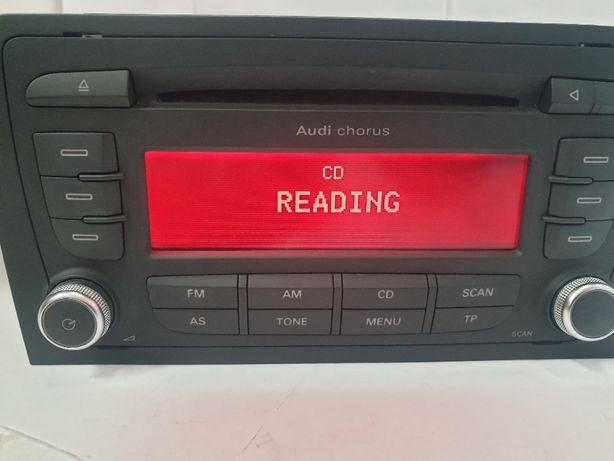 Radio CD Fabryczne AUDI CHORUS A3 8P 2DIN + kod