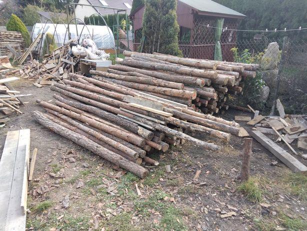 Stemple budowlane drewniane - ok 2,6 - 2,9 m - centrum Siedlce