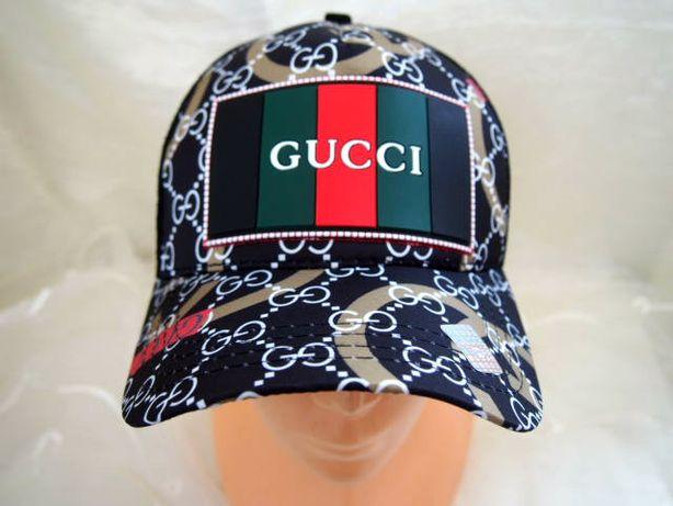Bejsbolówka Gucci hologram męska czapka z daszkiem świetna truckerka
