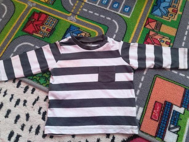 Koszulka H&M r. 62(2-4m) paski długi rękaw nowa