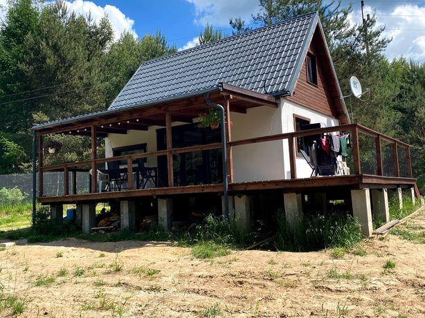 Nowy domek 65m nad jeziorem 40 km od Gdańska
