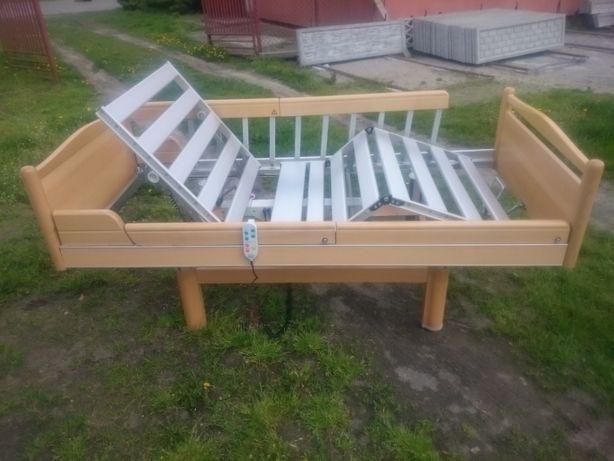 łóżko rehabilitacyjne 3 funkcyjne z nowym materacem
