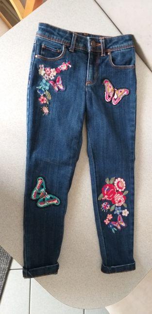 Spodnie na szczupłą dziewczynkę r.104