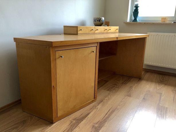 Duże biurko ze sklejki