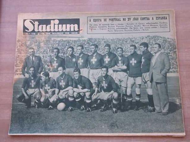 Revista STADIUM nº 110  Ano 1945  PORTUGAL - ESPANHA no JAMOR