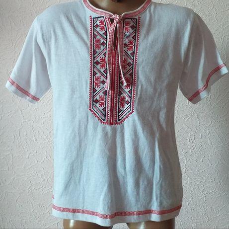 Нарядная белая рубашка, вышивка. Новое. Размер 110- 116-122